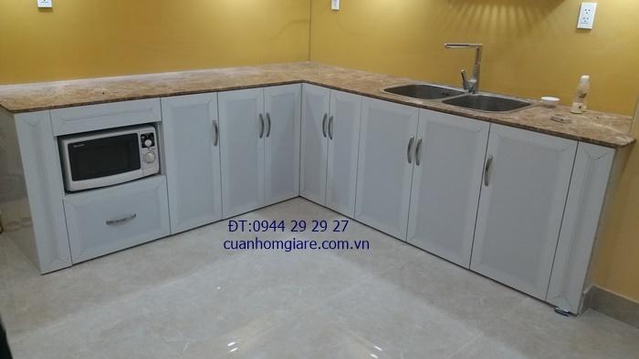 tủ bếp nhôm sơn tĩnh điện tphcm
